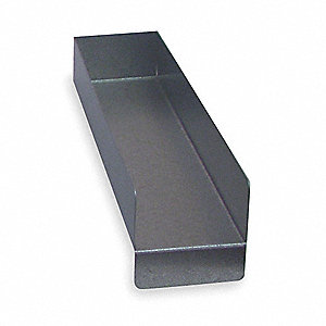 "Shelf Divider, Galvanized Steel, Silver, 2"" x 5"" x 14"""