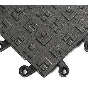 "Antifatigue Tiles,Black,18"" x 18"",PK10"