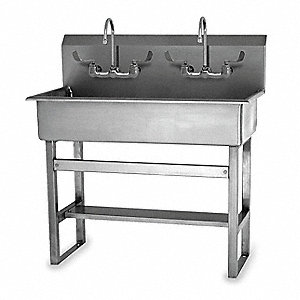 "Floor Hand Sink, 37"" x 16-1/2"" x 8"" Bowl Size"