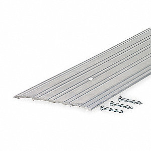 "6 ft. x 5"" x 1/4"" Low Profile Saddle Threshold, Silver"