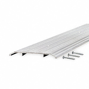 "6 ft. x 6"" x 1/2"" Fluted Top Saddle Threshold, Silver"