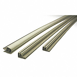 Grainger Approved Steel Door Weatherstrip Magnetic Beige