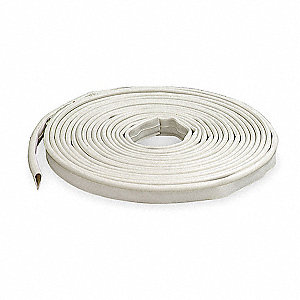 "Silicone, Gasketing, White, 20 ft. Overall Length, 1/2"" Overall Width, 1/4"" Overall Height"