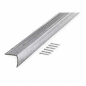 Stair Edging,Silver,36in W,Aluminum