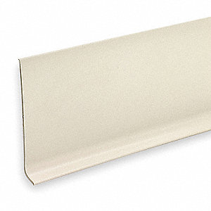 "720"" x 4"" PVC Vinyl Wall Base Molding, Almond"