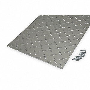 "Door Protection Plate, Aluminum, Kick/Stretcher, 10"" Height, 34"" Width"