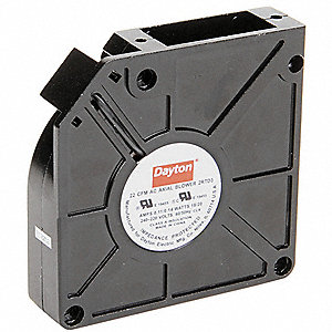 "Square Axial Blower, 4-3/4"" Width, 4-3/4"" Height, 230VAC Voltage"