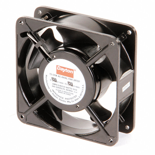 Dayton Axial Fans : Dayton square axial fan quot width height
