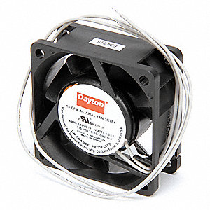 "Square Axial Fan, 2-3/8"" Width, 2-3/8"" Height, 115VAC Voltage"