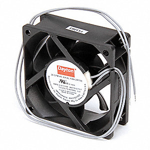 "Square Axial Fan, 2-3/4"" Width, 2-3/4"" Height, 115VAC Voltage"