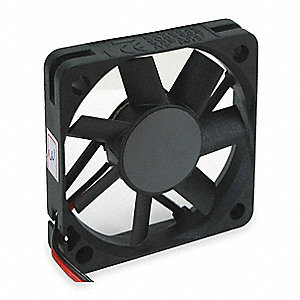 "Axial Fan, 2-3/8"" Width, 2-3/8"" Height, 5VDC Voltage"