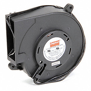 "Square Axial Blower, 4-3/4"" Width, 5"" Height, 115VAC Voltage"