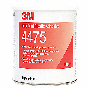 Plastic Adhesive,General,1 Qt,Clear