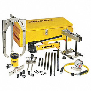 "Hydraulic Puller Set, 20 Ton Tonnage Capacity, 2"" Stroke Length"