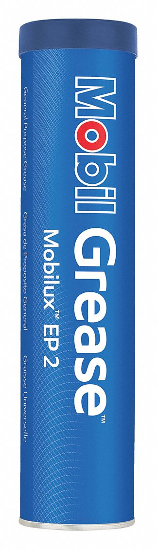 Mobilux® EP 2,  Brown,  Lithium,  Extreme Pressure Grease,  13.7 oz,  2 NLGI Grade