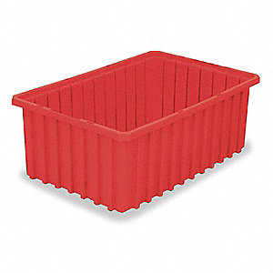 "Divider Box, Red, 10""H x 22-3/8""L x 17-3/8""W, 1EA"