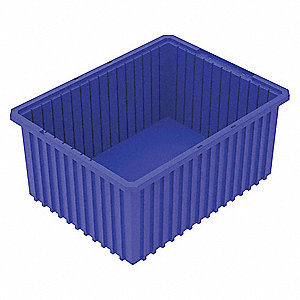 Divider Box,22-3/8 x 17-3/8 x 10 In,Blue