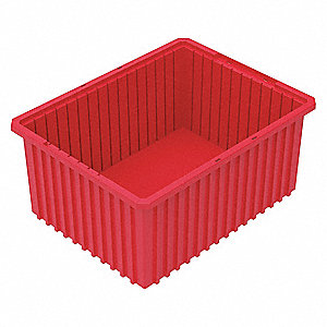Divider Box,22-3/8 x 17-3/8 x 10 In,Red