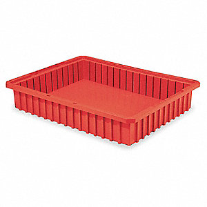 Divider Box,22-3/8 x 17-3/8 x 4 In,Red