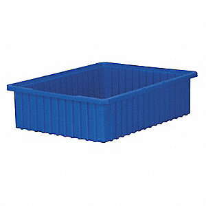 Divider Box,22-3/8 x 17-3/8 x 6 In,Blue