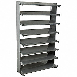 "36-3/4"" x 12"" x 60-1/4"" Single Sided Pick Rack with 400 lb. Load Capacity, Gray"