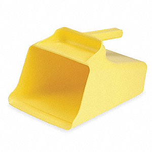 Mega Hand Scoop, Poly, 128 Oz, Yellow