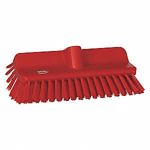 "10-25/64""L Polyester Replacement Brush Head Wall Brush, Red"