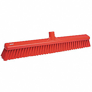 Red Stiff Bristle Broom Head