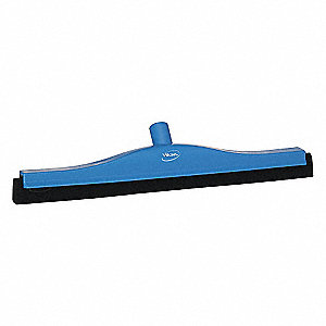 "20""W Straight Double Foam Rubber Floor Squeegee Without Handle, Blue"