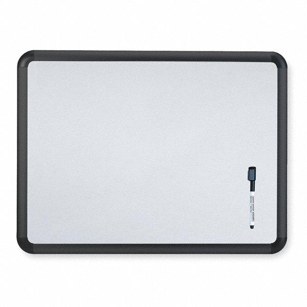 Grainger Approved Gloss Finish Melamine Dry Erase Board