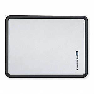 "Gloss-Finish Steel Dry Erase Board, Wall Mounted, 36""H x 48""W, White"