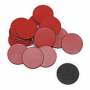 Magnets,3/4 In Round,Red,PK20