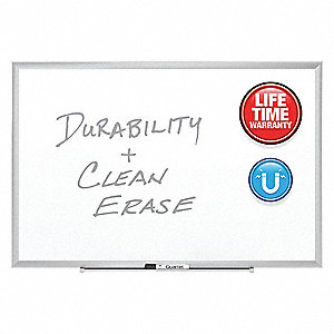 "Magnetic Dry Erase Board, Magnetic Porcelain, 48"" Width, 36"" Height"