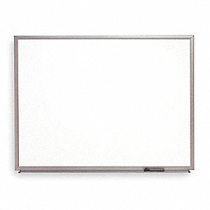 "Gloss-Finish Melamine Dry Erase Board, Wall Mounted, 48""H x 72""W, White"