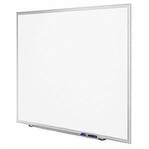 "Gloss-Finish Melamine Dry Erase Board, Wall Mounted, 18""H x 24""W, White"