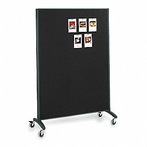 Divider Panel,Dry-Erase/Fabric,72x48 In