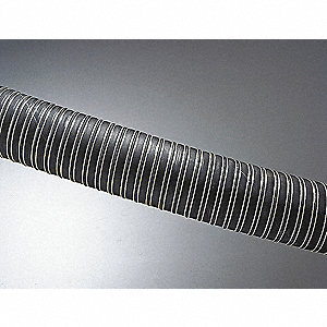 "12 ft. Neoprene Coated Fiberglass Industrial Ducting Hose with 4.9"" Bend Radius, Black"
