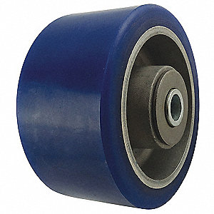 "4"" Caster Wheel, 700 lb. Load Rating, Wheel Width 2"", Polyurethane, Fits Axle Dia. 1/2"""