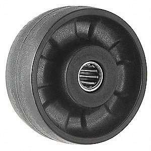 "8"" Caster Wheel, 1400 lb. Load Rating, Wheel Width 2"", Glass Filled Nylon, Fits Axle Dia. 1/2"""