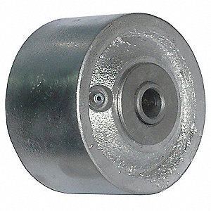 "3-1/4"" Caster Wheel, 700 lb. Load Rating, Wheel Width 2"", Cast Iron, Fits Axle Dia. 1/2"""