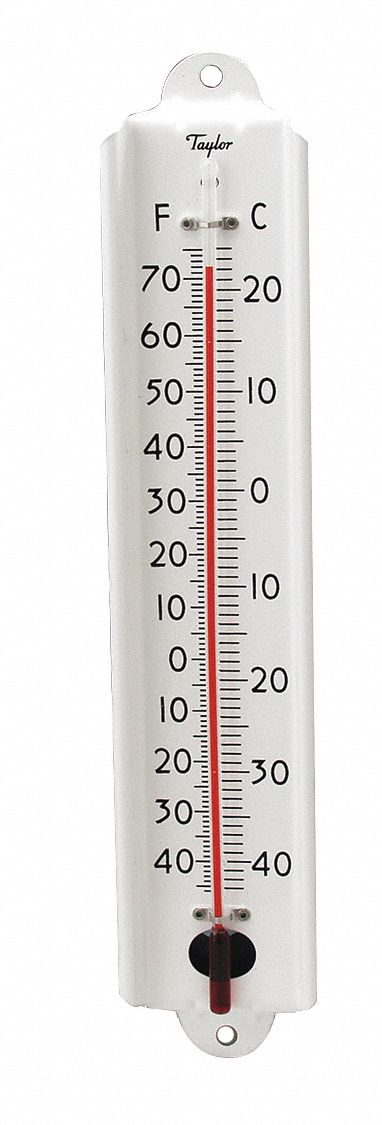 Taylor Analog Thermometer 40 To 70 Degree F 2t705 1106 Grainger