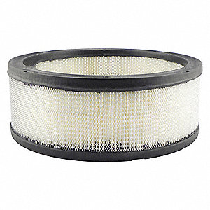 "Air Filter, Round, 3-9/16"" Height, 3-9/16"" Length, 9-21/32"" Outside Dia."
