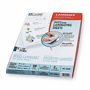LAMINATING SHEETS,12X9IN,PK50
