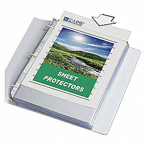 SHEET PROTECTOR,BIODEGRADABLE,PK50