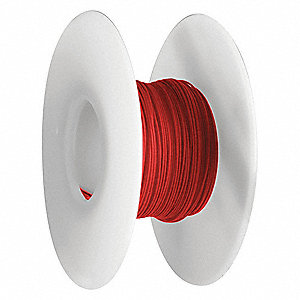 Wire Wrapping Wire, Red, 28 AWG Wire Size, 100 ft. Length