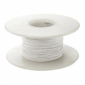 100 ft. Kynar® KSW Wire Wrapping Wire with 30 AWG Wire Size, White