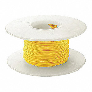 100 ft. Kynar® KSW Wire Wrapping Wire with 30 AWG Wire Size, Yellow