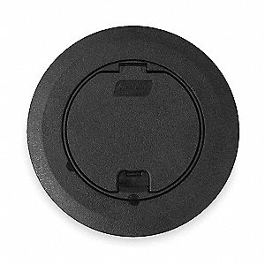 "Floor Box Cover and Carpet Flange, PVC, Shape: Round, 6-3/4"" Length, 3-3/8"" Width"