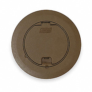 Floor Box Cover,Round,6 3/4 In.,Brown