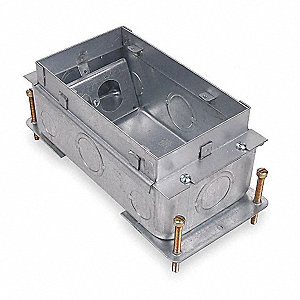 "steel city floor box, 3-3/4"" height, 4-11/16"" length, 10-1/4"